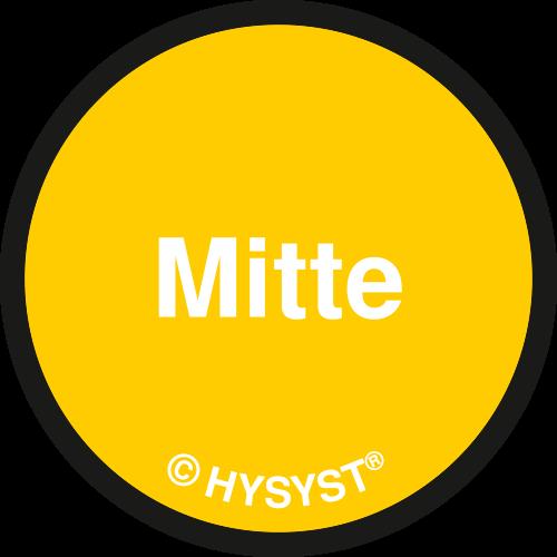 HYSYST HyPlace Patientenplatzkennzeichnung - Gelb