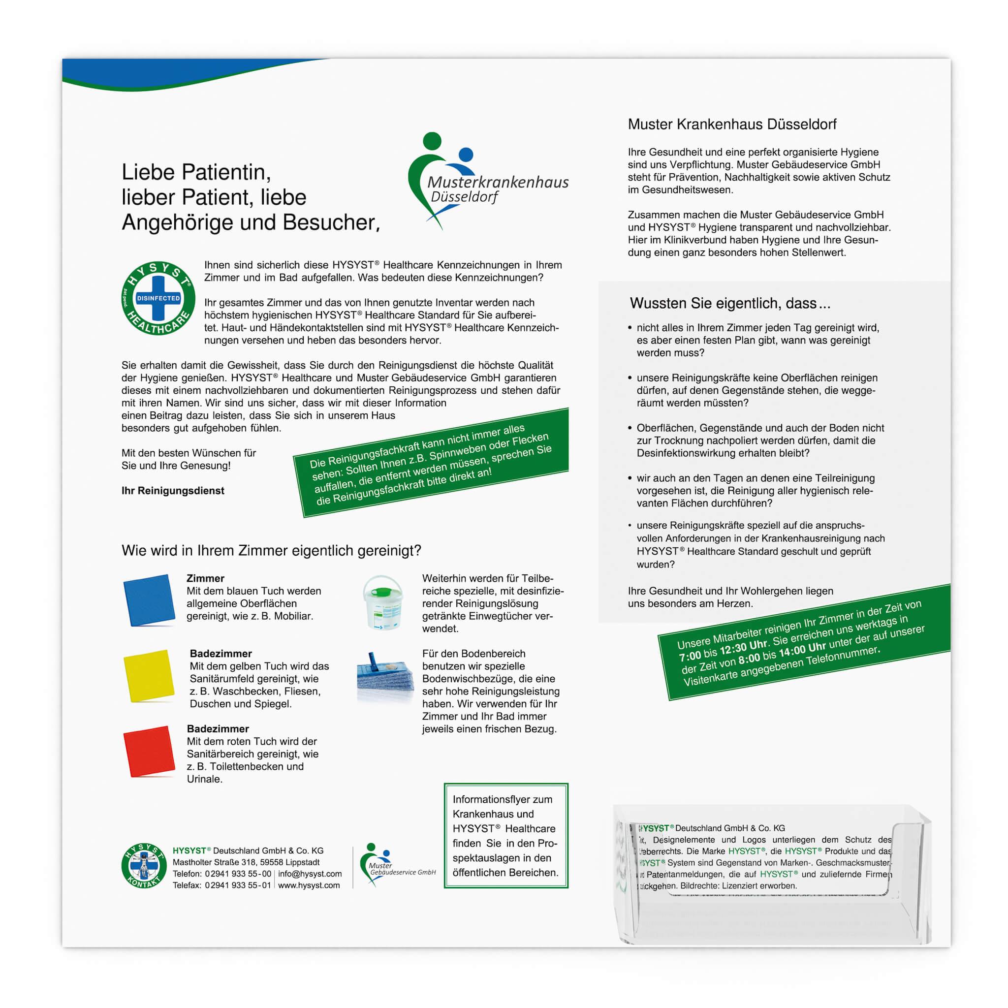 HyStyx - InformationBoard mit Visitenkartenhalter
