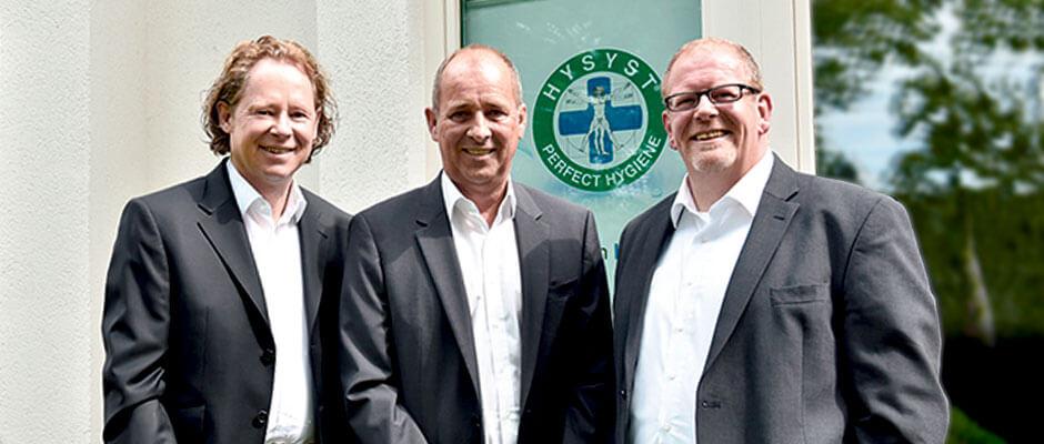 HYSYST Gründer v.l.n.r Ulrich Kröcker, Ulrich Schulschenk, Thomas Meyer