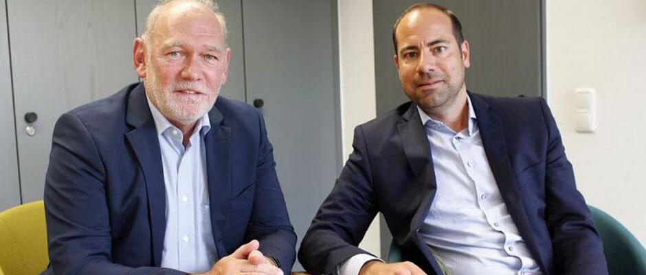 Jörg Rusch, KdA-Service GmbH, und Gunnar Schneider, Krankenhaus der Augustinerinnen